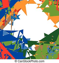 Abstract multicolor, mottled illustration. colorful design...