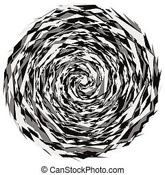 Abstract illustration with spiral motif. Abstract swirl,...