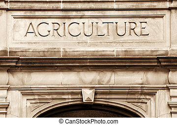 Agriculture - Entrance to the University of Arkansas...