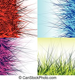 Abstract digital art with array of random lines. Use as...