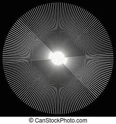 Radial lines element. Abstract geometric illustration....