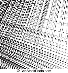 Grid, mesh of dynamic irregular lines. Abstract geometric...
