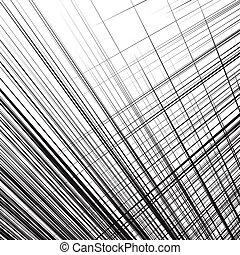 Grid, mesh of dynamic irregular lines. Abstract geometric...