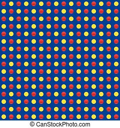 Repeatable circles, dots pattern. Colorful / multicolor...