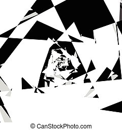 Chaotic, messy composition abstract geometric illustration....