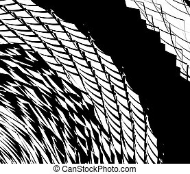 Element, pattern with wavy, distorted lines. Abstract...