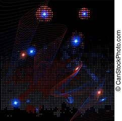 abstraction red and blue - dark background and abstraction...