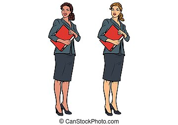 Two female accountant African American and Caucasian