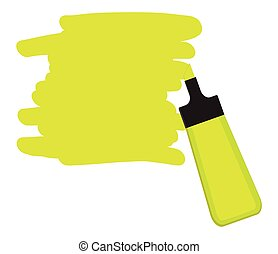Yellow highlighter pen with yellow area for writing a message.