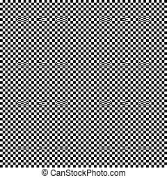 Black and white seamless geometric pattern. Repeatable...