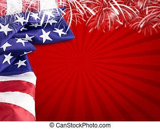 美國,  4, 背景, 七月, 天, 獨立