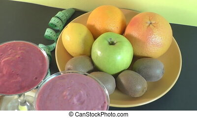 smoothie drink, fruit, healthy eating - smoothies and fruit,...