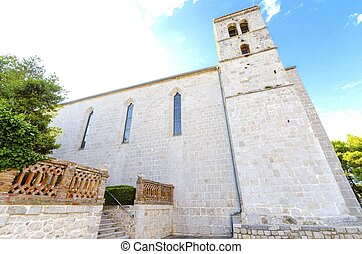 Church of St Francis, Krk, Croatia - The bell tower of the...