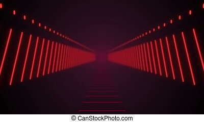 Abstract background with technology tunnel. Seamless loop
