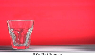 slide glass red background