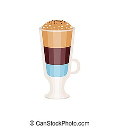 Coffee americano in a glass cup vector Illustration isolated...