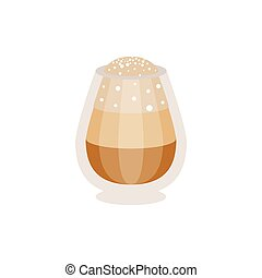 Coffee macchiato in a glass vector Illustration isolated on...