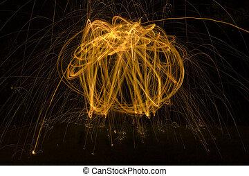 Light Painting Background - Abstract Communication with...