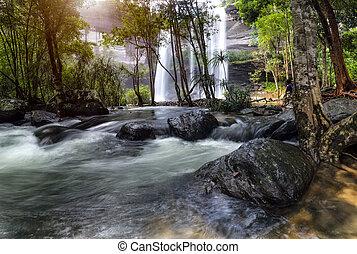 Huai Luang Waterfall at Ubon Ratchathani in Thailand Asia