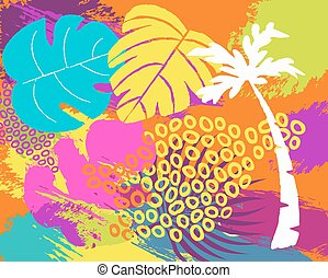 Tropical summer nature abstract background art