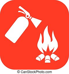 Fire safety sign - Fire safety vector sign