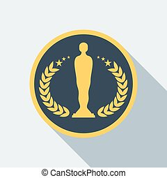 cinema statuette award icon - Cinema statuette Film Award...