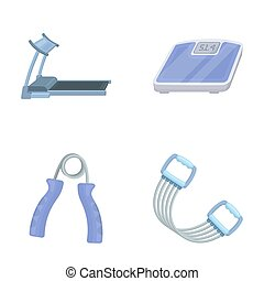Treadmill, scales, expander and other equipment for...