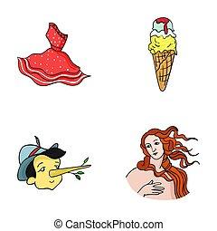 vestire, dea, set, italia, gelato, web, Simbolo, Amore,...