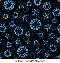 Abstract winter snow seamless circles design pattern...