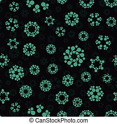 Abstract seamless circles design pattern unusual. Vector...