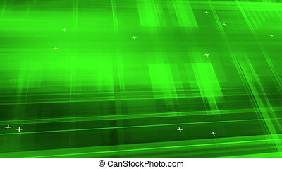 Green abstraction high tech with plus sign looping animated...