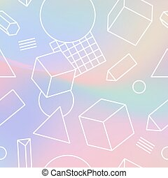 Holographic Trendy Background - Hipster boho holographic...