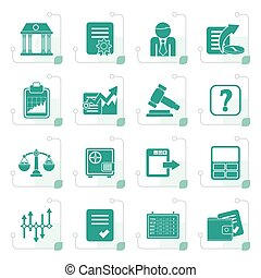 Stylized Stock exchange and finance icons
