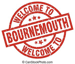 welcome to Bournemouth red stamp