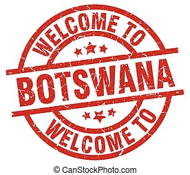 welcome to Botswana red stamp
