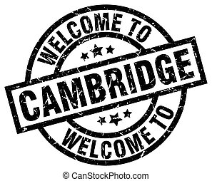 welcome to Cambridge black stamp