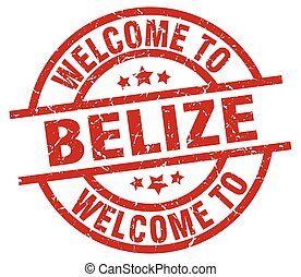 welcome to Belize red stamp