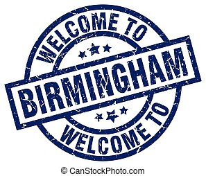 welcome to Birmingham blue stamp