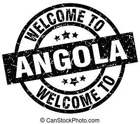 welcome to Angola black stamp