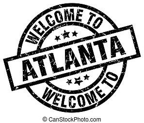welcome to Atlanta black stamp