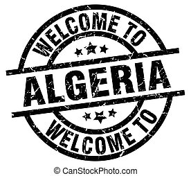welcome to Algeria black stamp