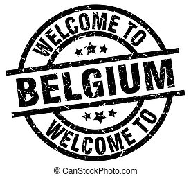 welcome to Belgium black stamp