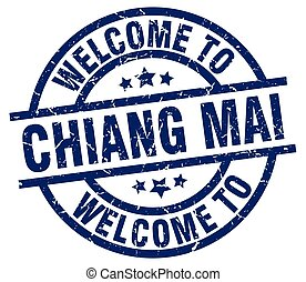 welcome to Chiang mai blue stamp