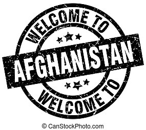 welcome to Afghanistan black stamp