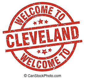 welcome to Cleveland red stamp