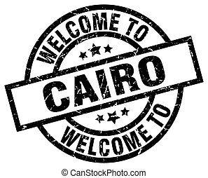 welcome to Cairo black stamp