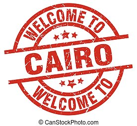 welcome to Cairo red stamp