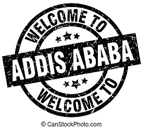 welcome to Addis Ababa black stamp
