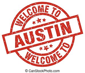 welcome to Austin red stamp