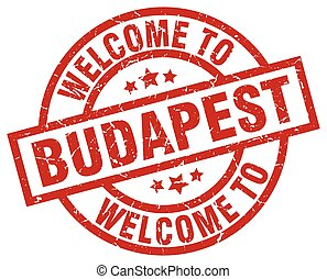 welcome to Budapest red stamp